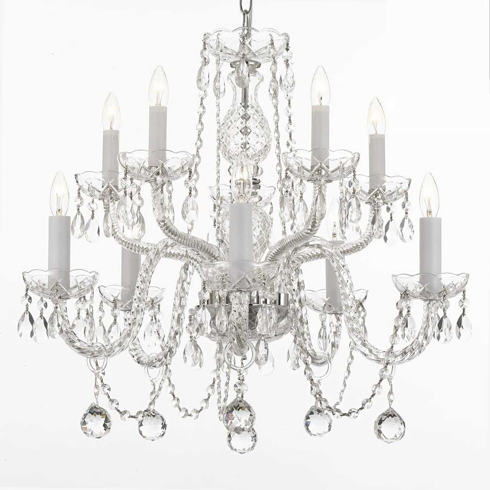 Gallery crystal 10 light chandelier with faceted 40mm crystal balls gallery crystal 10 light chandelier with faceted 40mm crystal balls arubaitofo Choice Image