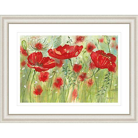 Buy catherine stephenson red poppy maze framed print 90 5 x 70 5cm online at