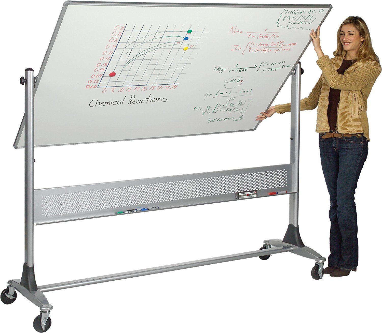 Amazon Com Best Rite Platinum Mobile Reversible Whiteboard Easel 4 X 6 Feet Panel Size Dura Rite Hpl Markerb Whiteboard On Wheels Dry Erase Board Dry Erase