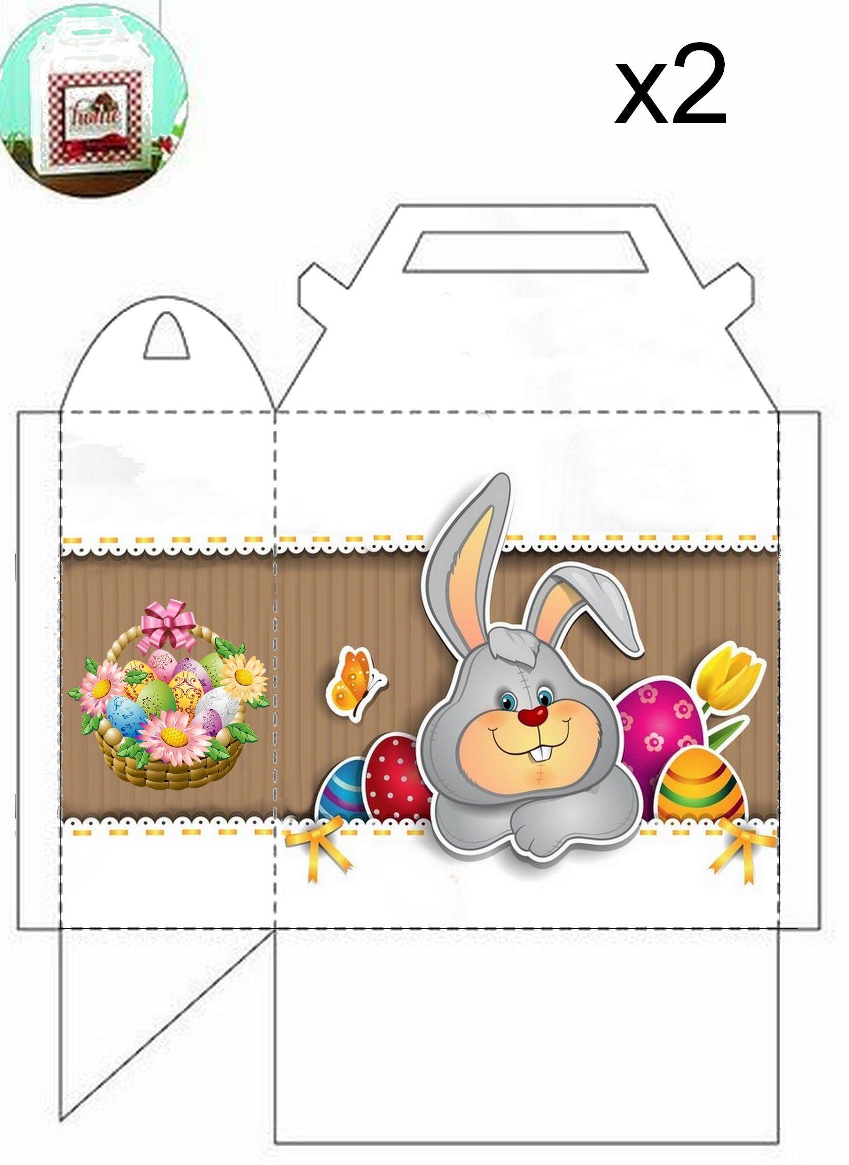 Panier de p ques imprimer et assembler bricolage et diy p ques pinterest sucreries - Image de paques a imprimer ...