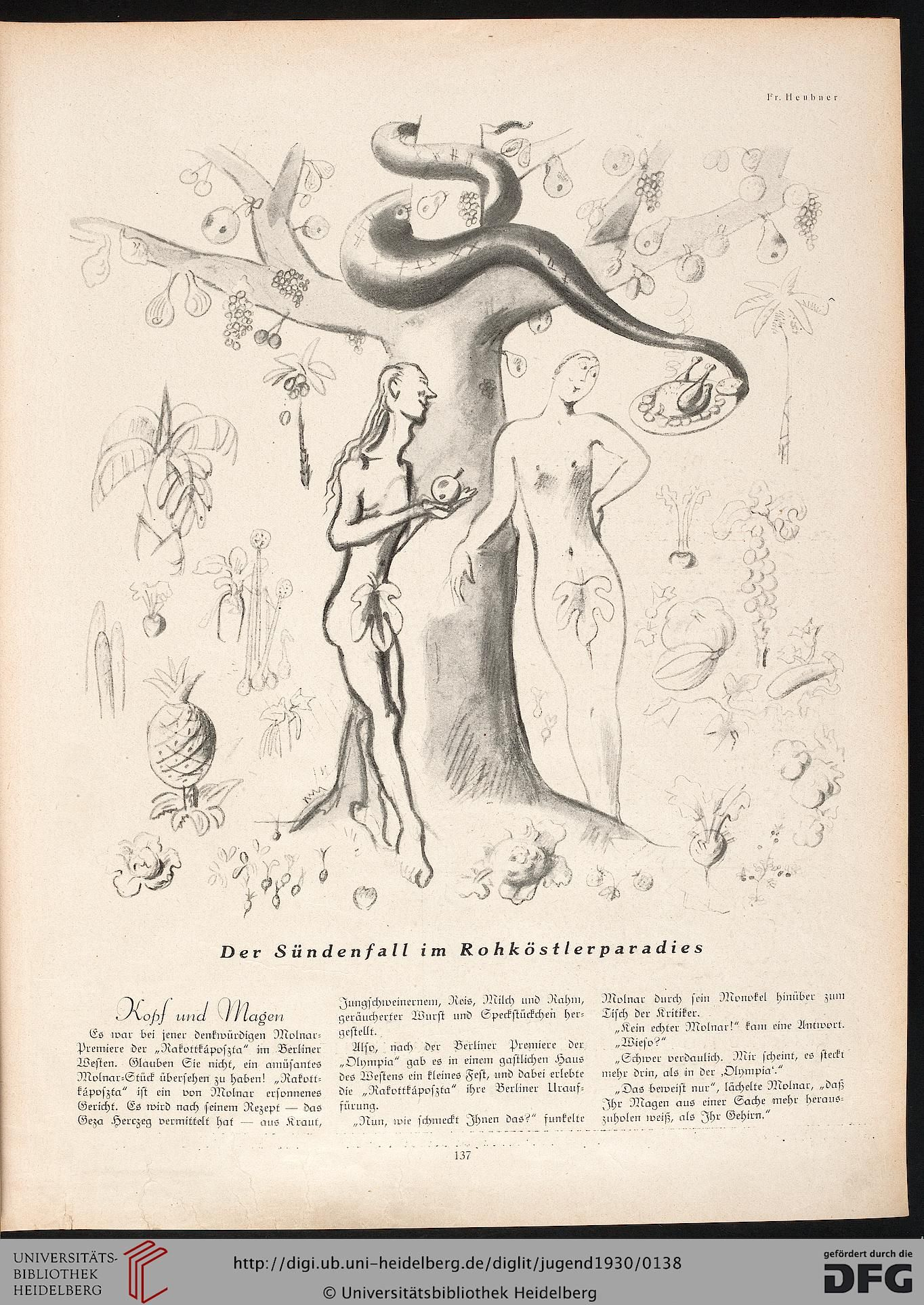 Jugend, German illustrated weekly magazine for art and life, Volume 35, 1930.