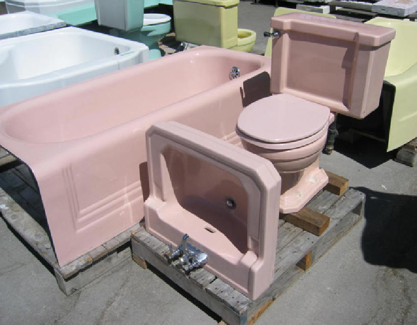 Pink Tubs Pink Sinks Pink Toilets Pink Tile Save The Pink