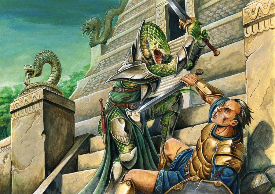Serpent Folk Half-Pager by ~FStitz on deviantART