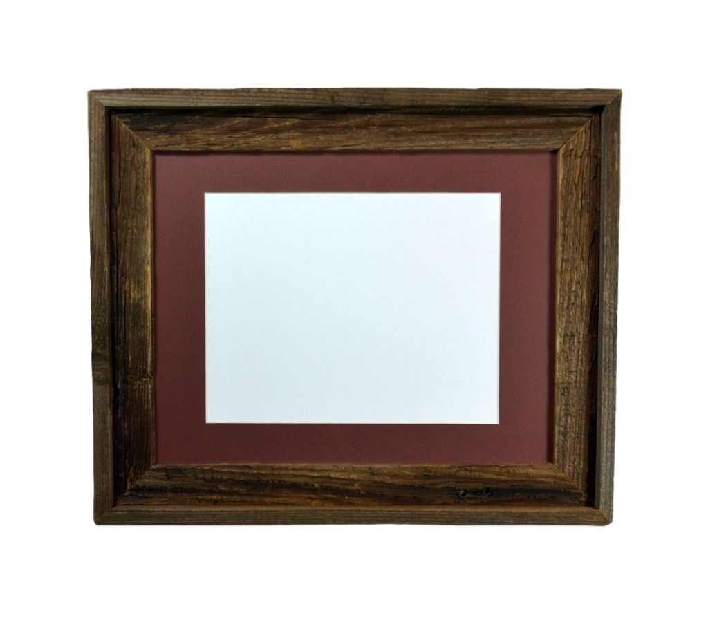 11x14 natural dark wood frame with mat for 8x10 pictures or prints ...