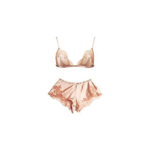 1ffcf56cf6 Boohoo Kara Satin Crop Vest And Shorts Night Set Boohoo ❤ liked on Polyvore  featuring intimates