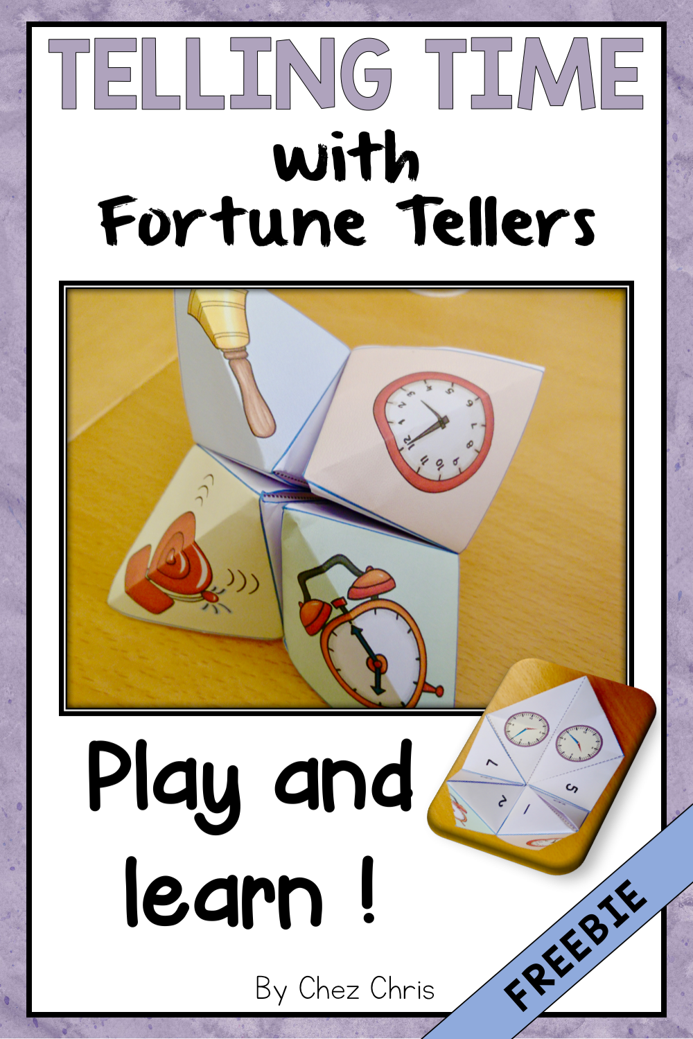 Time Cootie Catchers Fortune Teller Playing with Time