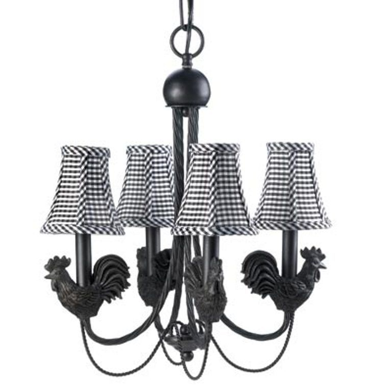 Details About Montebello Chandelier Lamp - Roosters