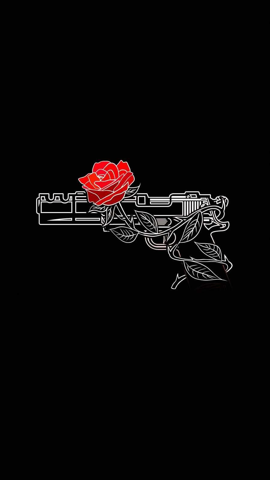 Rose Gun IPhone Wallpaper - IPhone Wallpapers