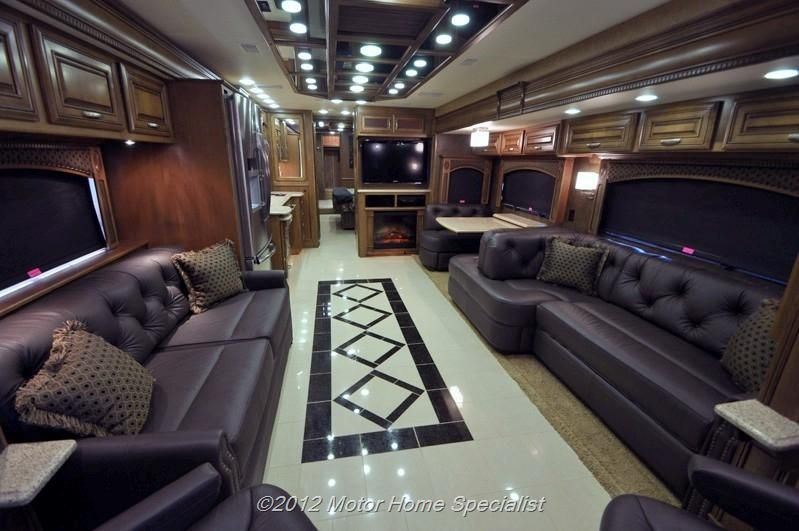 2013 Entegra Coach Cornerstone Luxury Motorhome 45rbq Inside With