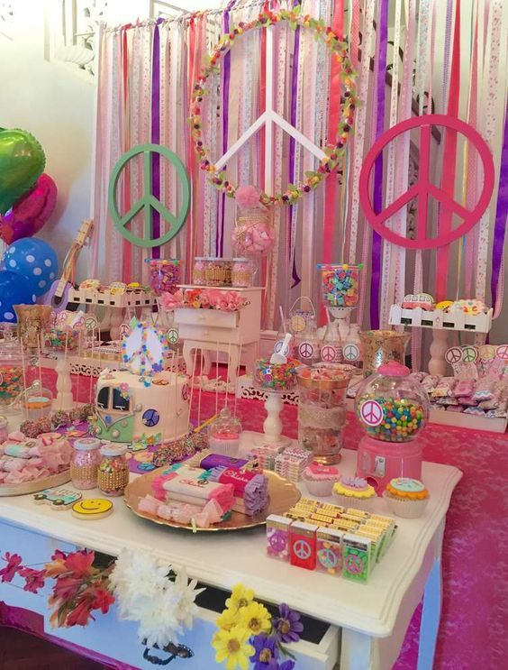 hippie chic birthday party ideas pinterest fiesta de los 70 fiestas y para mujeres. Black Bedroom Furniture Sets. Home Design Ideas
