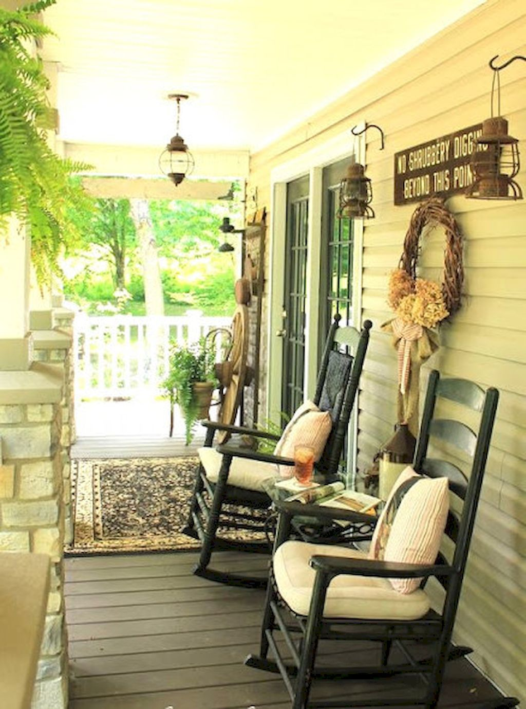 60 Awesome Farmhouse Porch Rocking Chairs Decoration | Rocking ...