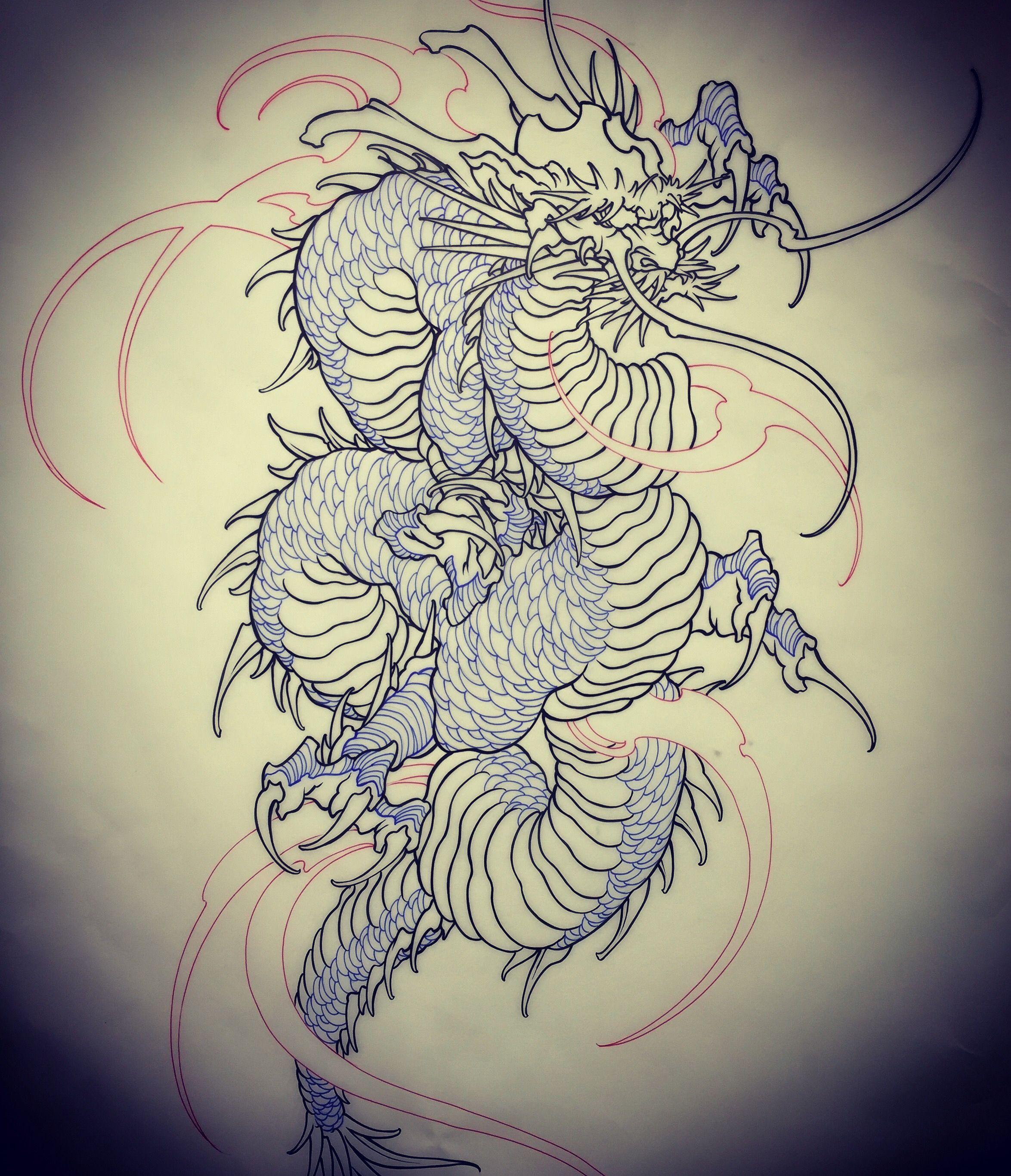 Amsterdam Tattoo 1825 Kimihito Dragon Japanese Style Tattoo Design Netherlands Japanese Ta Dragon Tattoo Colour Japanese Dragon Tattoos Japanese Tattoo Artist