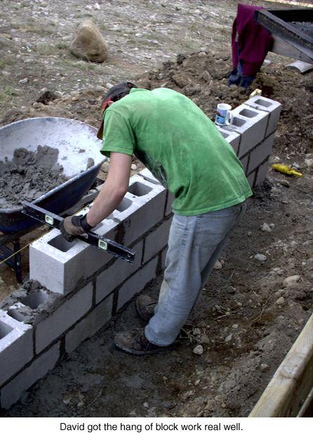 Block Laying Concrete Block Walls Concrete Retaining Walls Concrete Blocks