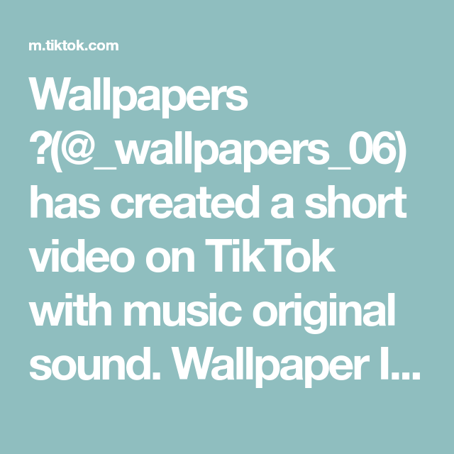 Wallpapers Wallpapers 06 Has Created A Short Video On Tiktok With Music Original Sound Wallpaper Ideas Black Theme I L The Originals Music Riverdale