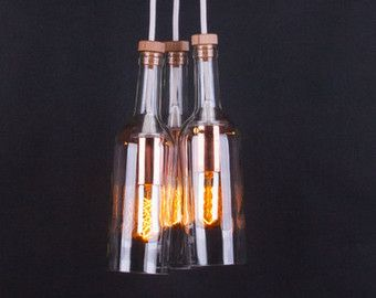 Pendant light wine beer bottles suspension lamp by zalcreations pendant light wine beer bottles suspension lamp by zalcreations aloadofball Choice Image