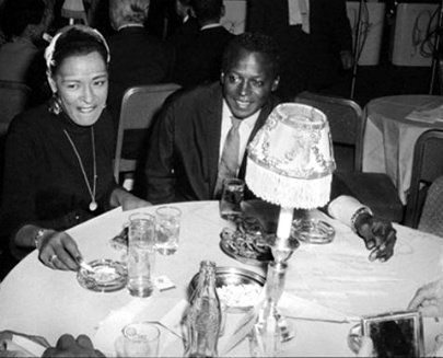 Miles Davis & Billie Holiday, NYC, 1958, found at Facebook | Billie holiday, Miles davis, Billie