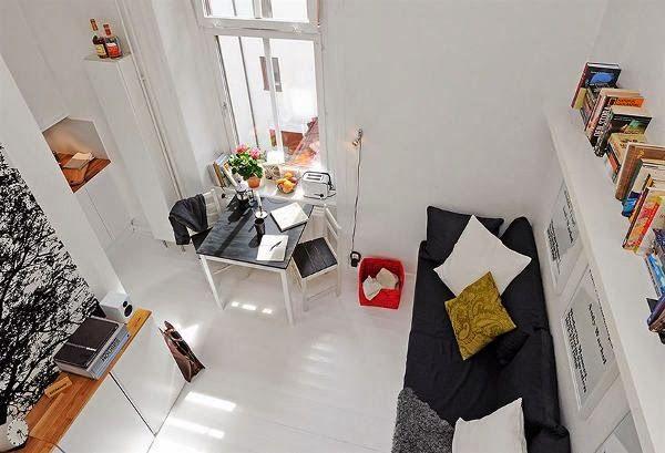 Blog Wnetrzarski Design Nowoczesne Projekty Wnetrz Male Mieszkanie 17m2 Jak Urzad Small Apartment Design Small Apartment Furniture Small Apartment Living