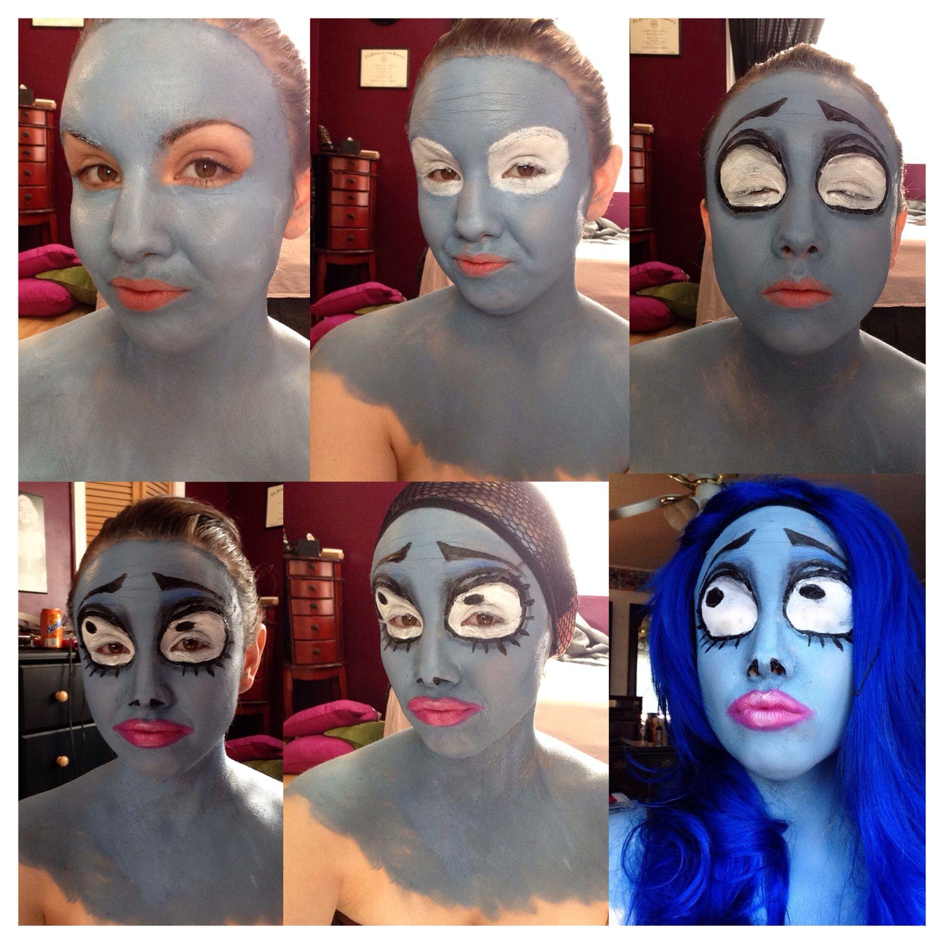 Emily Corpse Bride makeup! Happy Halloween