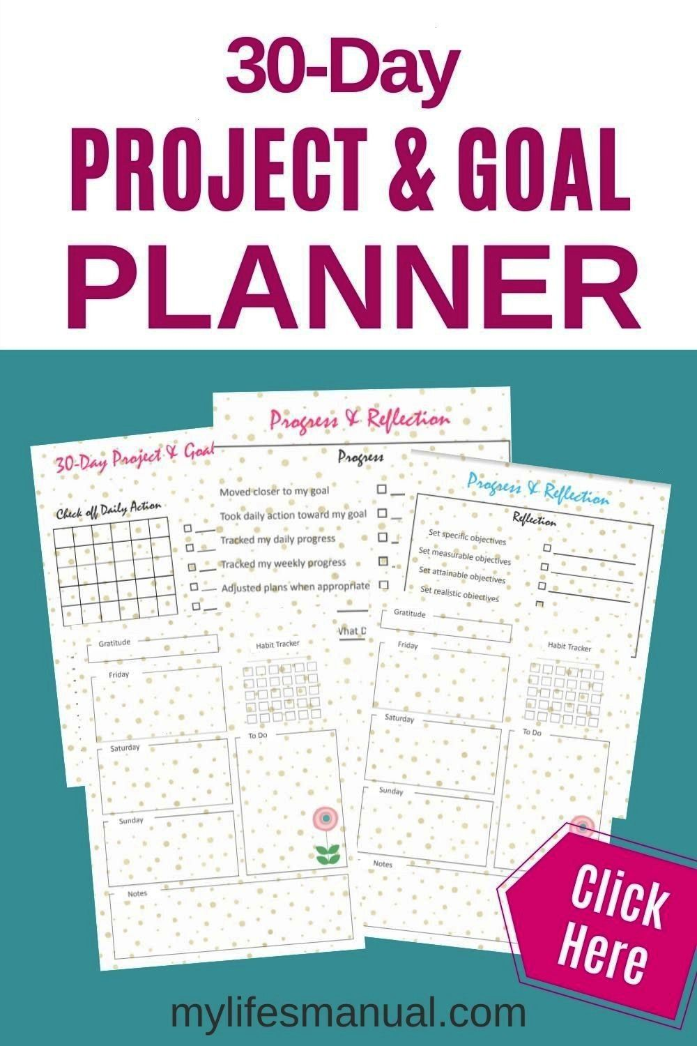 And Goal Planner Printables.  Setting goals for 2020? Grab these planning worksheets to help you br