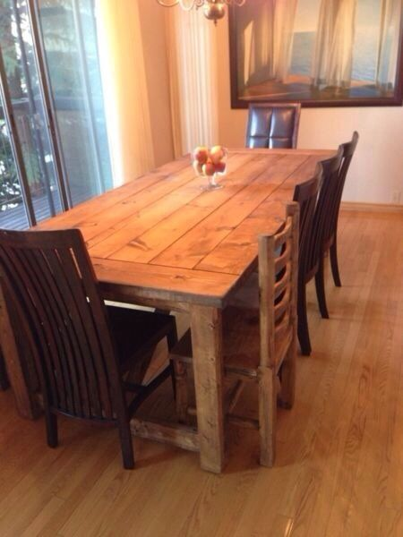 Kijiji Handcrafted Rustic Solid Wood Custom Dining Tables