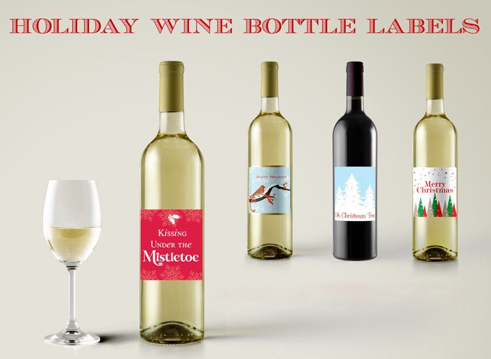 Holiday Wine Labels (FREE Printables) Labels free, Free printables