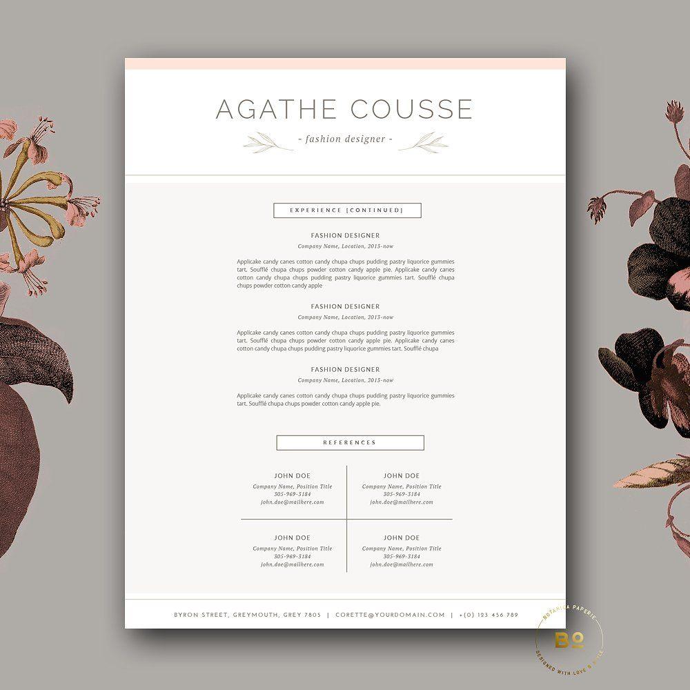 Feminine Resume Template for Word Resume template word