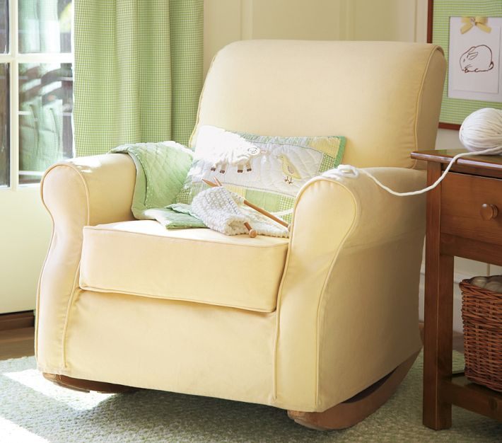 Custom Slipcovers for your Pottery Barn Lullaby Rocker/Glider chair from your own fabric : lactation chair - Cheerinfomania.Com