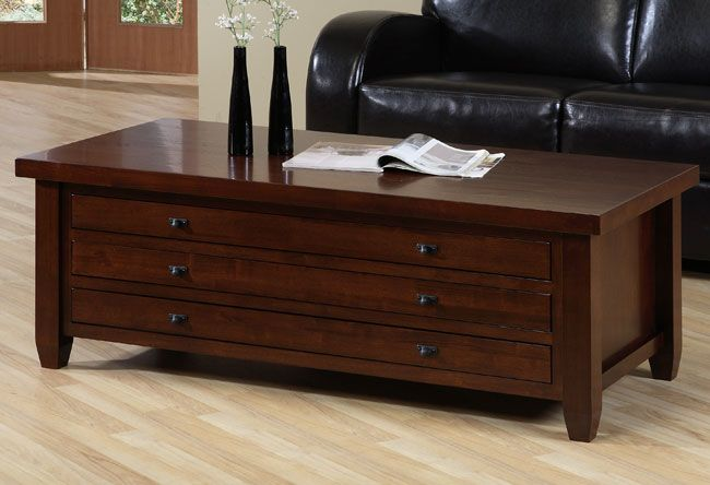 The Navigator Coffee Table Is A Handsome Walnut Cherry Color Decor