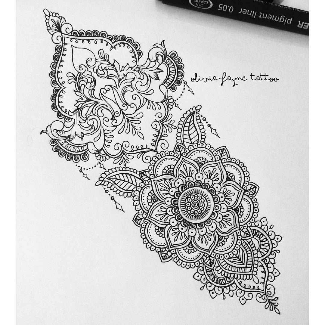 "1,453 Likes, 26 Comments - Tattoo Designer (@oliviafaynetattoo) on Instagram: ""Wrist Piece for Beate #mandala #mehndi #henna #tattoo #tattoodesign """