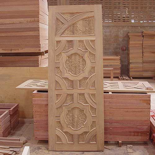 New Model Kerala Style Wooden Door Design