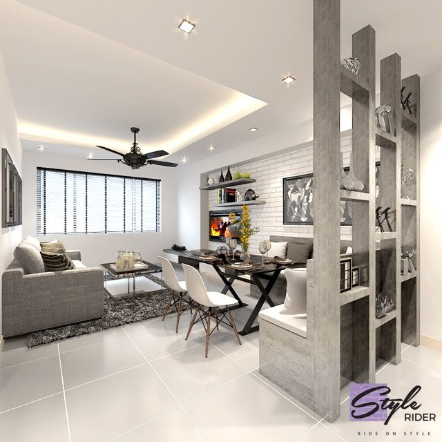 Living Room Design Idea Enchanting Hdb Bto 4Room Punggol Waterway Terrace Ii  Interior Design Design Ideas