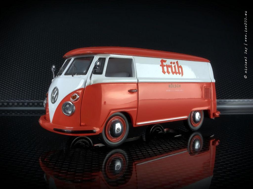1 43 volkswagen t1 kastenwagen fr h k lsch schuco. Black Bedroom Furniture Sets. Home Design Ideas