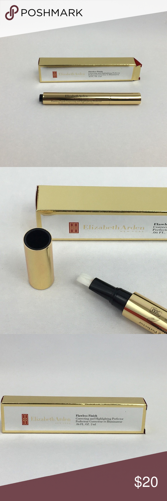Elizabeth Arden Flawless Finish Medium 03 New Brand Elizabeth Arden Color Medium 03 Line Flawless Finish Type correcting and highlighting perfector Size 0.06 fl oz   Condition New Elizabeth Arden Makeup Concealer