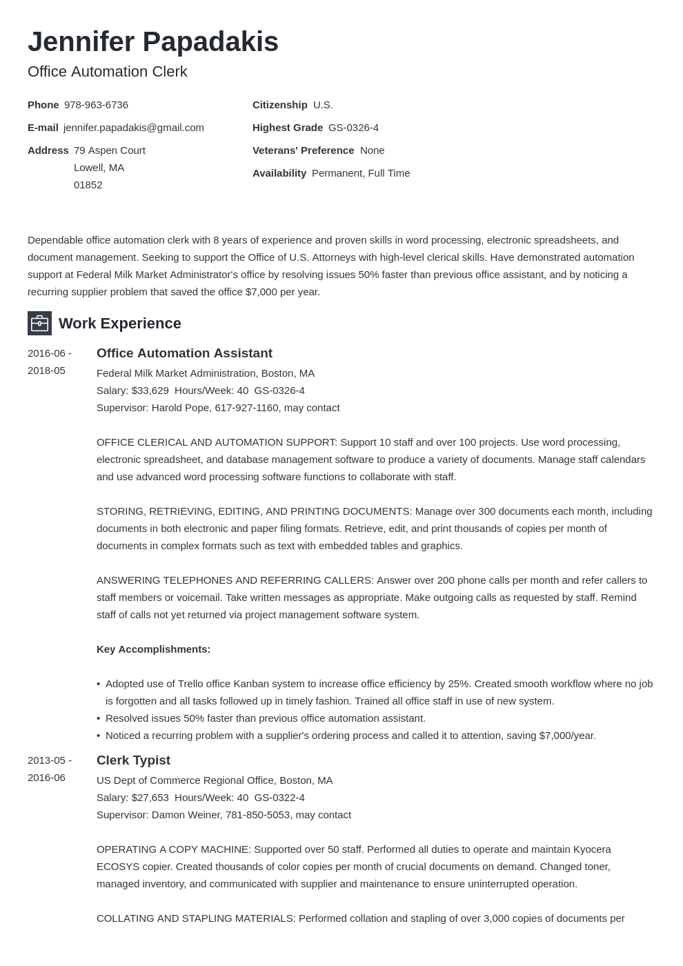 federal resume example template newcast in 2020 Federal