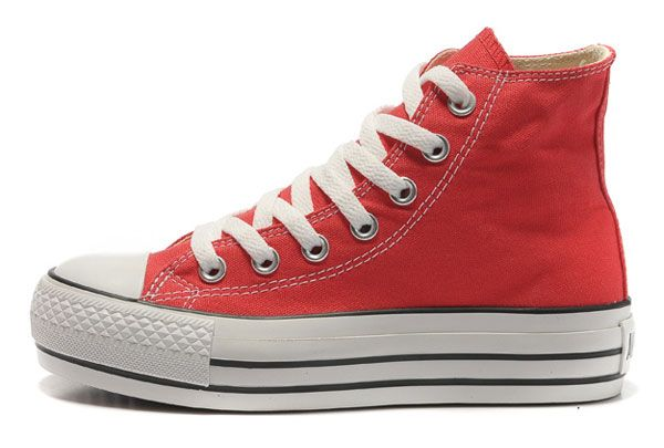 e6a7a334dbffa0 Platform Converse All Star High Tops Red Canvas Classic Sneakers for Women  Outlet  BN13032003  -  58.00   Designer Converse American UK Flag.