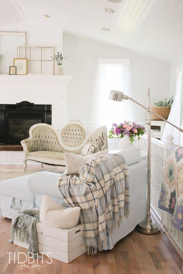 Living Room Update White Cottage Style Cottage Living Rooms Cottage Style Living Room Living Room Update