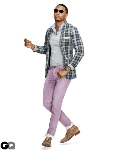 Jacket, $188 by J.Crew. Sweater, $595 by Calvin Klein Collection. Shirt, $70 by Club Monaco. Jeans, $195 by Burberry Brit. Shoes, $1,005 by Brunello Cucinelli. Sunglasses by Ray-Ban. Pocket square by Brooks Brothers. Watch by David Yurman.    Read More http://www.gq.com/style/wear-it-now/201203/best-spring-sports-jackets-blazers-men-trey-songz#ixzz1npcup3XE