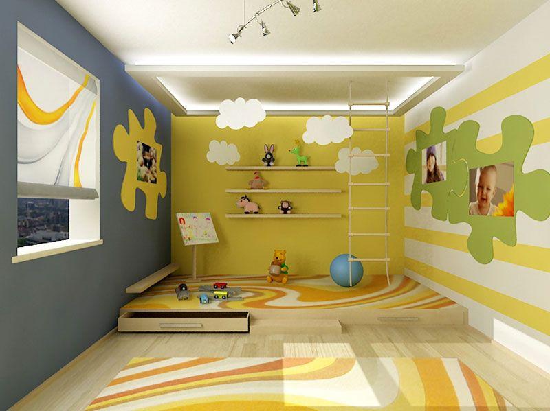 Green Playroom Interior Design Ideas Living Room Detskaya Igrovaya