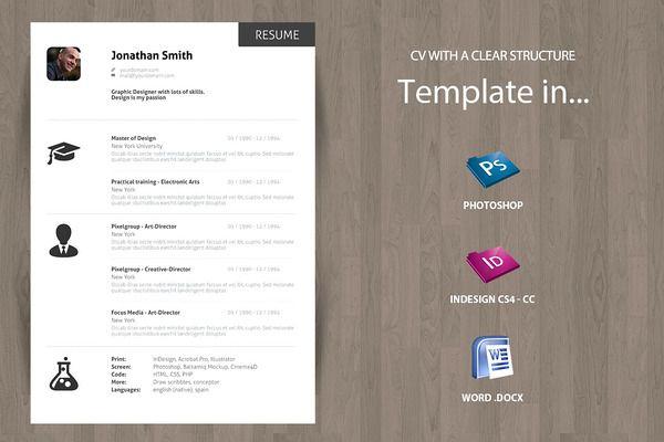 Minimal Curriculum Vitae CV - Resume Pinterest Minimal, Template