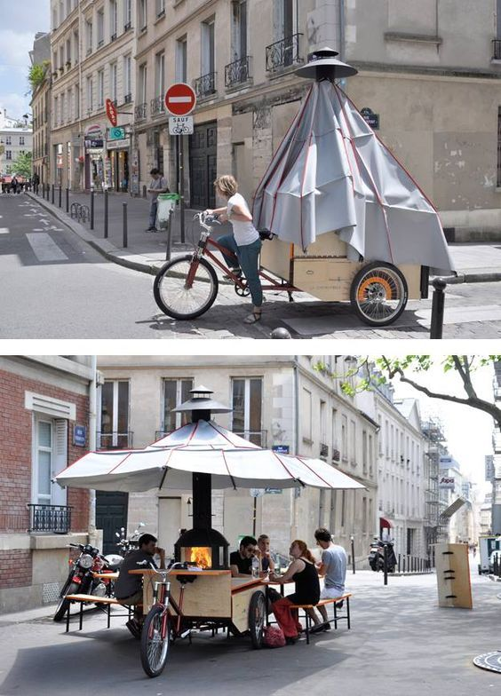 Stylé La Cheminambule A Mobile Hearth And Eating Place