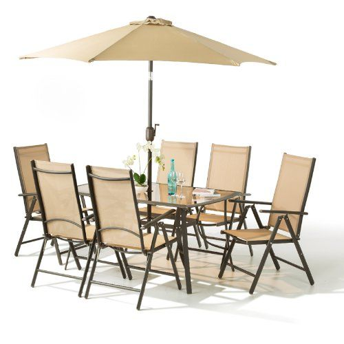 Buy Santorini Garden and Patio Set - New 2017 Model Now With 100 Aluminium Framework NON RUST x Multi Position Recliner Chairs-Table - and Metre Tilt and ...  sc 1 st  Pinterest & Get this 8 Piece Santorini Garden and Patio Set cheaper than ...