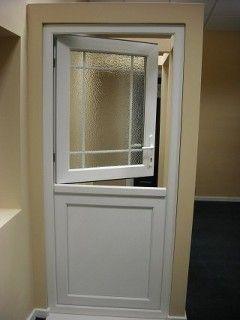 white upvc exterior stable door with edwardian bar window for the back door - Exterior Back Doors