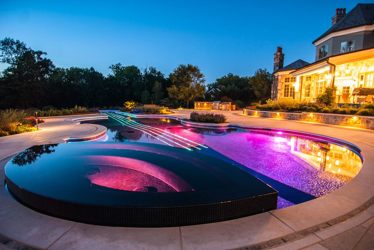 Custom Swimming Pool by Cipriano Landscape Design: beyond amazing ...