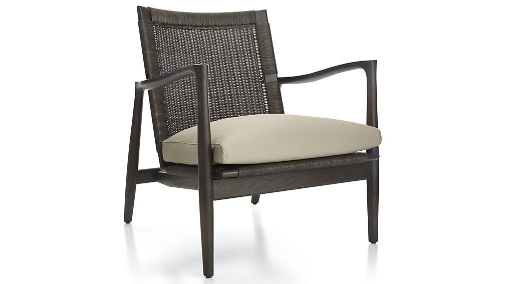 Sebago Midcentury Rattan Chair With Fabric Cushion With Images