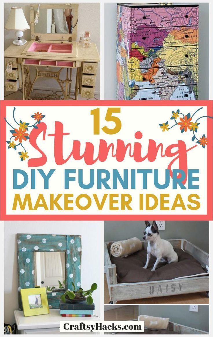 Sharing 15 great DIY furniture ideas. These furniture makeover ideas will give y... -
