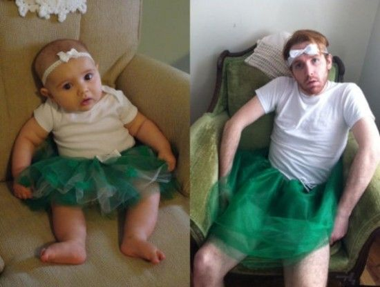 Weirdo Reenacts Scenes in Baby Photos (19 Photos)