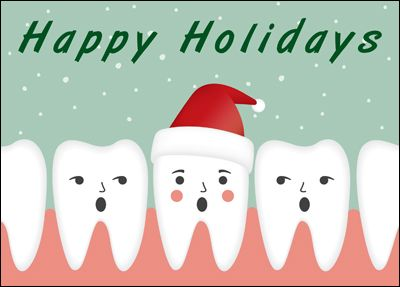 Christmas Teeth (Glossy White) #1628 | Medical Cards | Pinterest