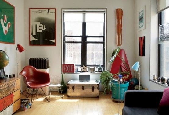Mid-Century Modern Renovation Of A Tiny New York Apartment | DigsDigs