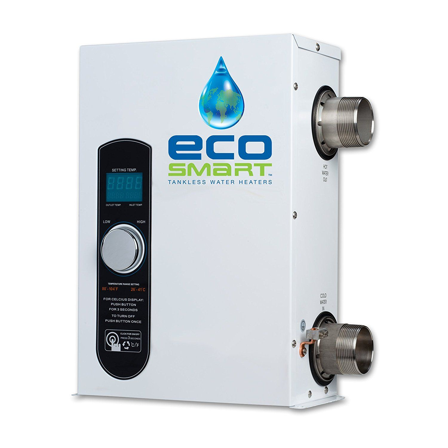 Ecosmart Smart Pool 27 Electric Tankless Pool Heater 27kw 240 Volt 112 5 Amps With Self Modulating Technology Pool Heater Heater Tankless Water Heater