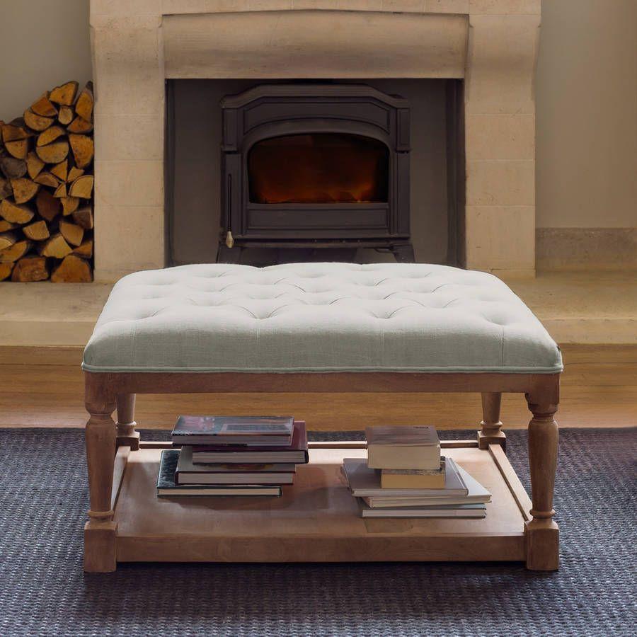 upholstered fabric ottoman coffee table | Minimalist Home Design ...
